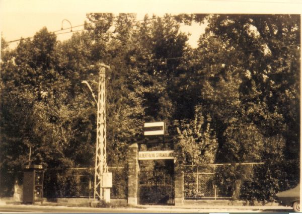 BKV strand bejárat régen